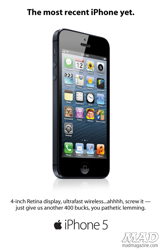 mad magazine the idiotical Apple's Revealing New iPhone 5 Ad  Idiotical Originals, Tech</body></html>