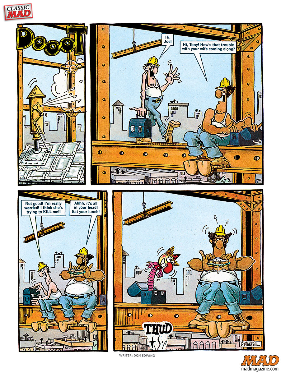 Don Martin, Classic MAD, Fonebone Friday, Construction, MAD #244, Duck Edwing
