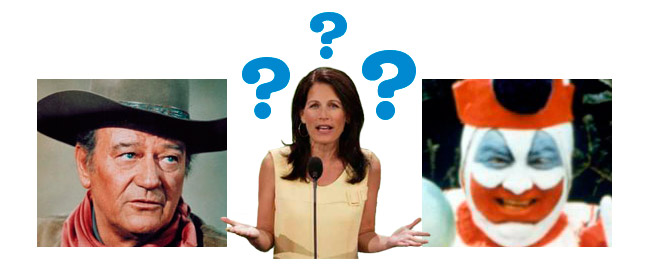 Confused Michele Bachmann