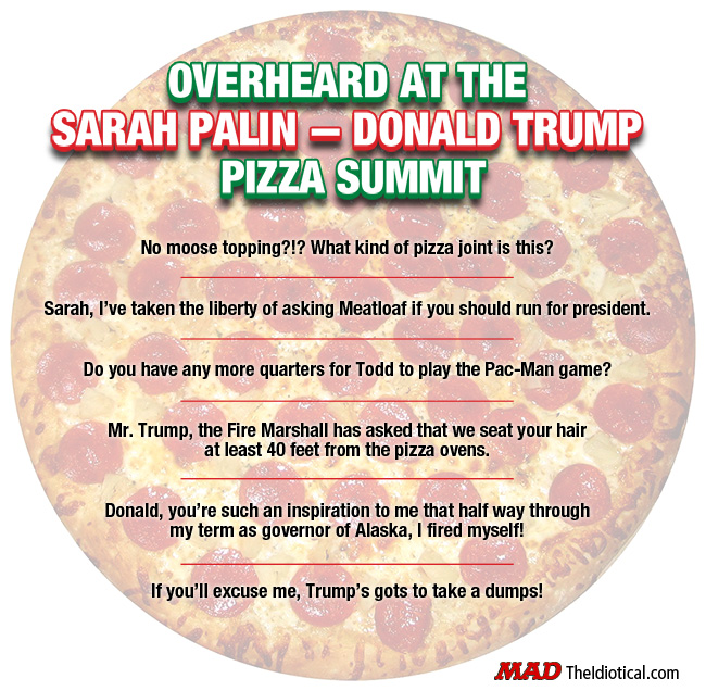 Pizza Sarah Palin Donald Trump