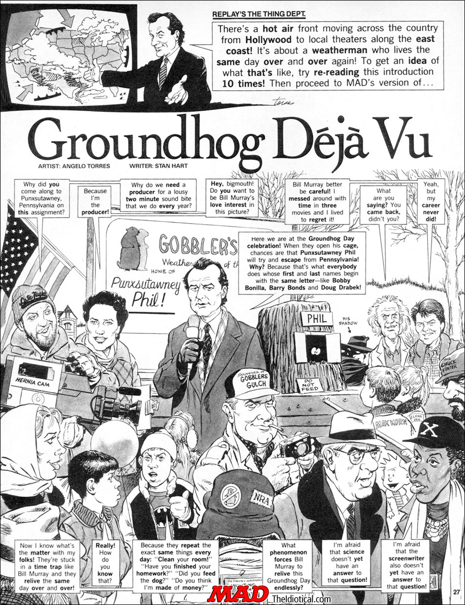 mad u0027s u0027groundhog day u0027 satire mad magazine