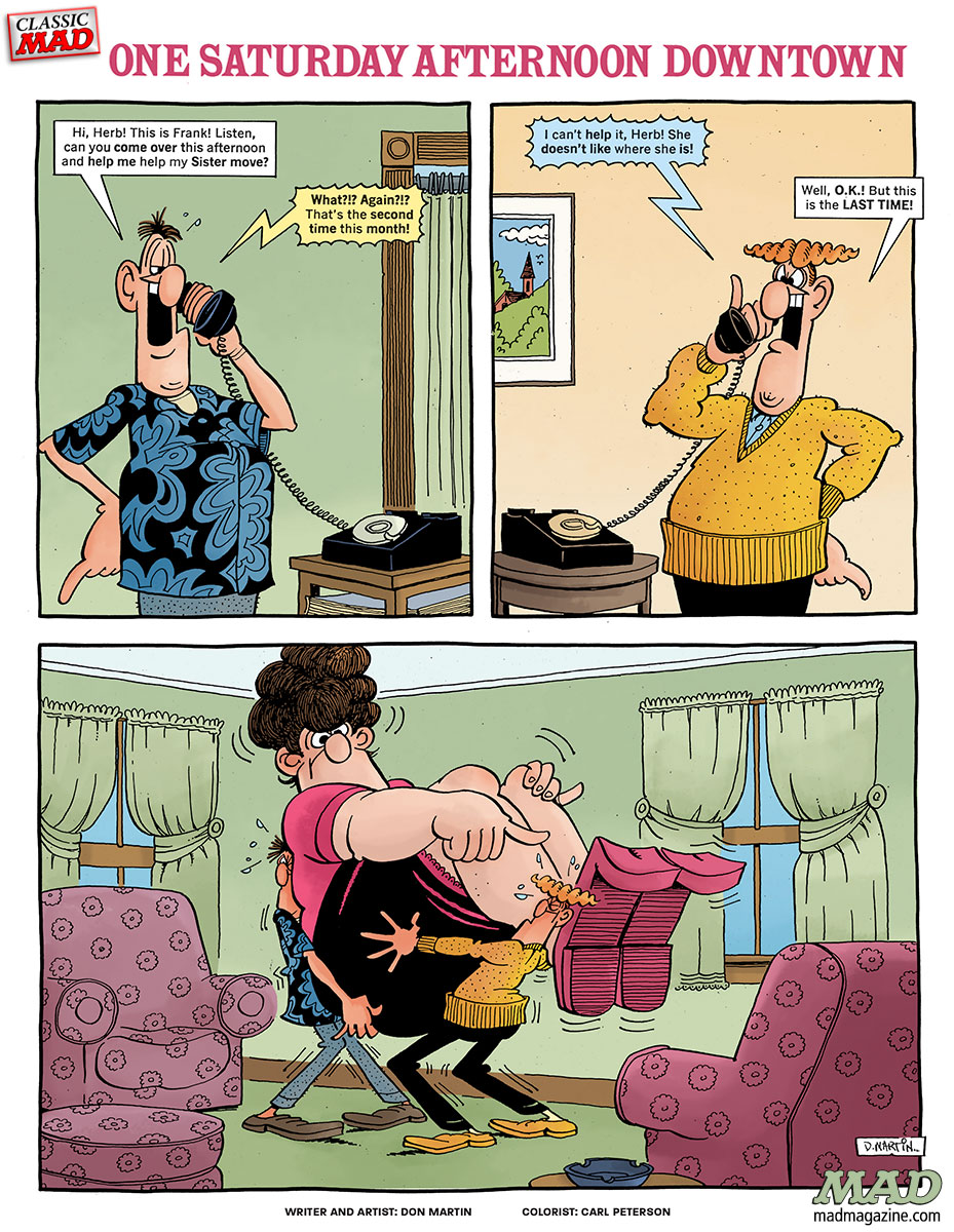 Classic MAD, Fonebone Friday, Don Martin, MAD #214