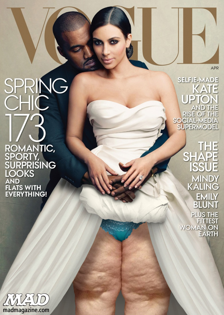 Idiotical Originals, Magazine Covers, Vogue, Kim Kardashian, Kanye West, Legs, Perfect Bacon Bowl Success Stories