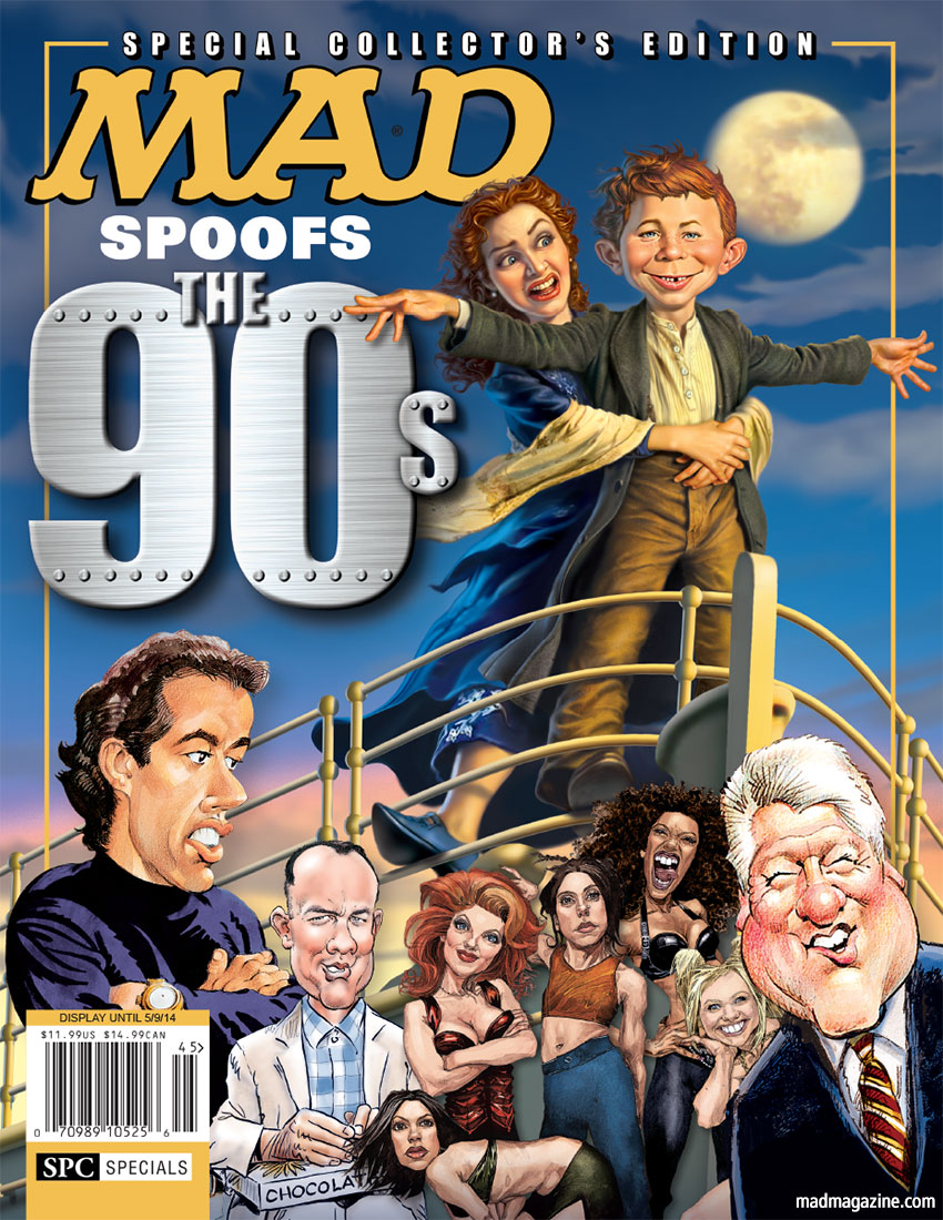 MAD Specials, 1990s, 90s, Titanic, Jerry Seinfeld, Forrest Gump, Spice Girls, Bill Clinton, Alfred E. Neuman, Mark Fredrickson, Kate Winslet