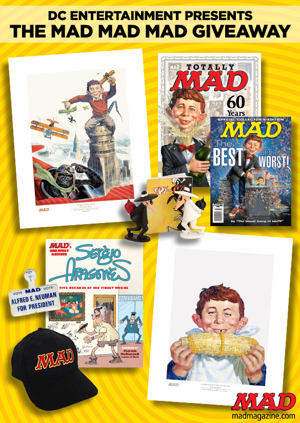 MAD Merchandise, Contest, Sweepstakes, Alfred E. Neuman