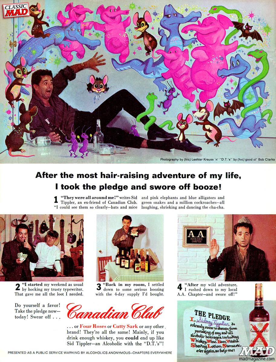 mad magazine ad parodies al feldstein canadian club