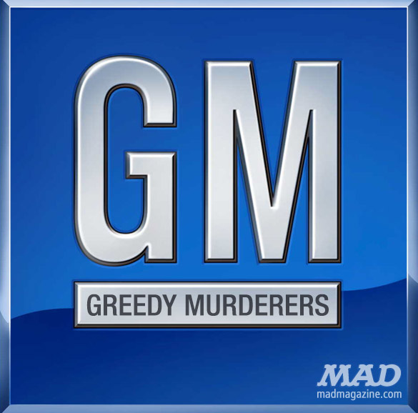 MAD MAGAZINE THe idiotical GM Unveils Appropriate New Logo  Idiotical Originals, Society & Culture, GM, General Motors, Automobiles, Cars, Recalls, Scandal, Accidents, Corporations, Mary Barra, Detroit, Franklin Institute Limited Edition Collectible Spittoons