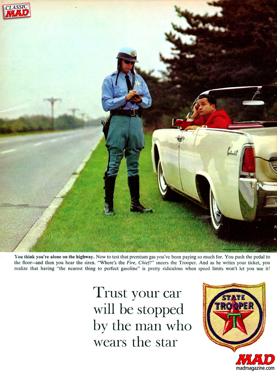 mad magazine ad parodies al feldstein  state trooper