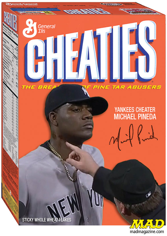 Idiotical Originals, Sports, Baseball, New York Yankees, Michael Pineda, Pine Tar, Cheating, Cheaties, Wheaties, Hannibal Lecter Anne Geddes Photo Shoot