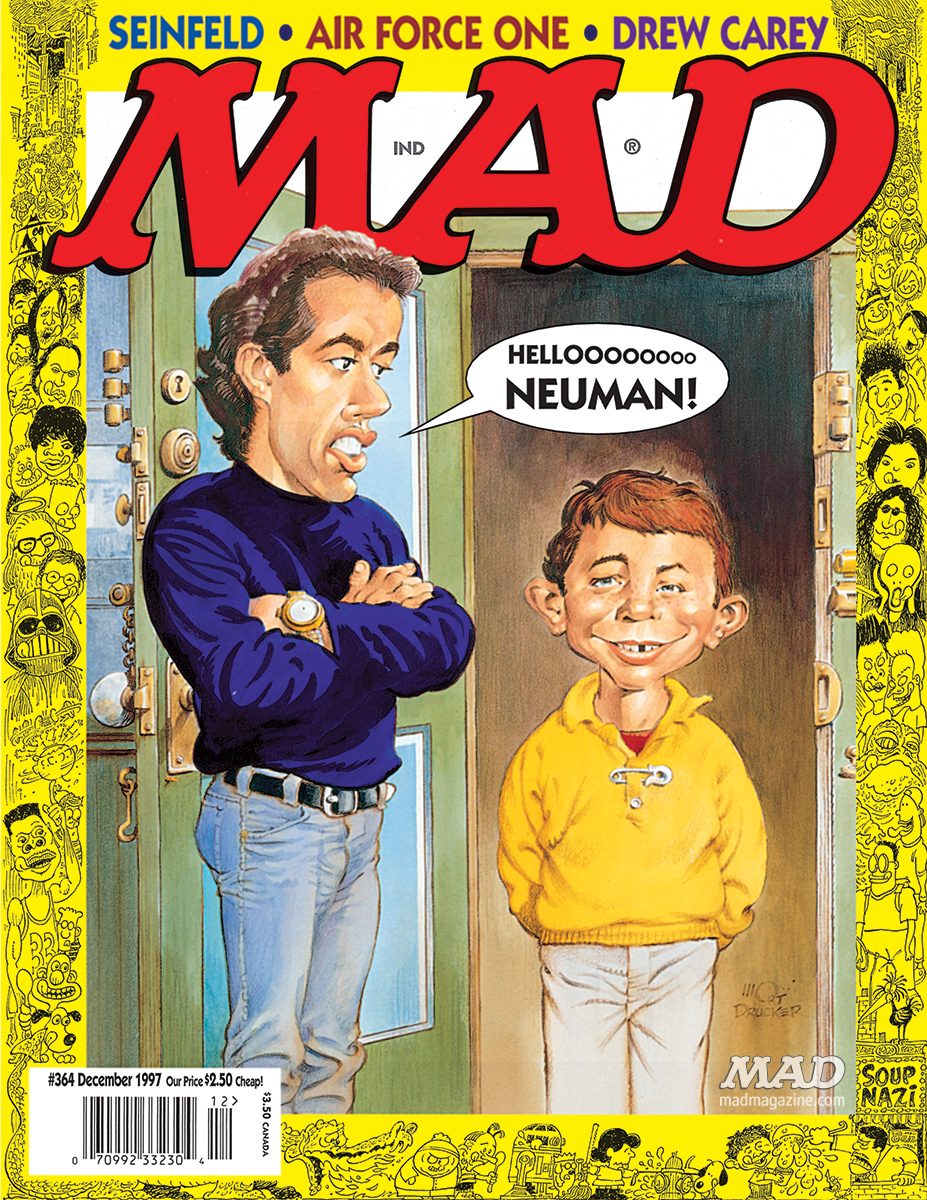 MAD Magazine, Classic MAD, Jerry Seinfeld, Seinfeld, NBC, MAD #364, Comedians In Cars Getting Coffee, Howard Stern, Mort Drucker, Paul Coker