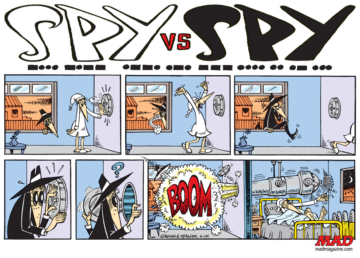 Classic MAD, Spy, Prohias, Edwing, Manak, Kuper, Joke and Dagger, Gray Spy, Sunday Comic, Strip, Newspaper