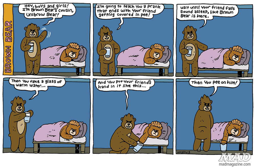 The MAD Strip Club, Brown Bear, Noah Van Sciver, Comic Strips, Pranks