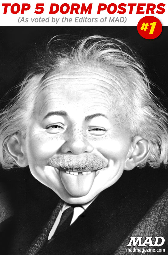 Idiotical Originals, College, Posters, Dorm, Alfred E. Neuman, Albert Einstein