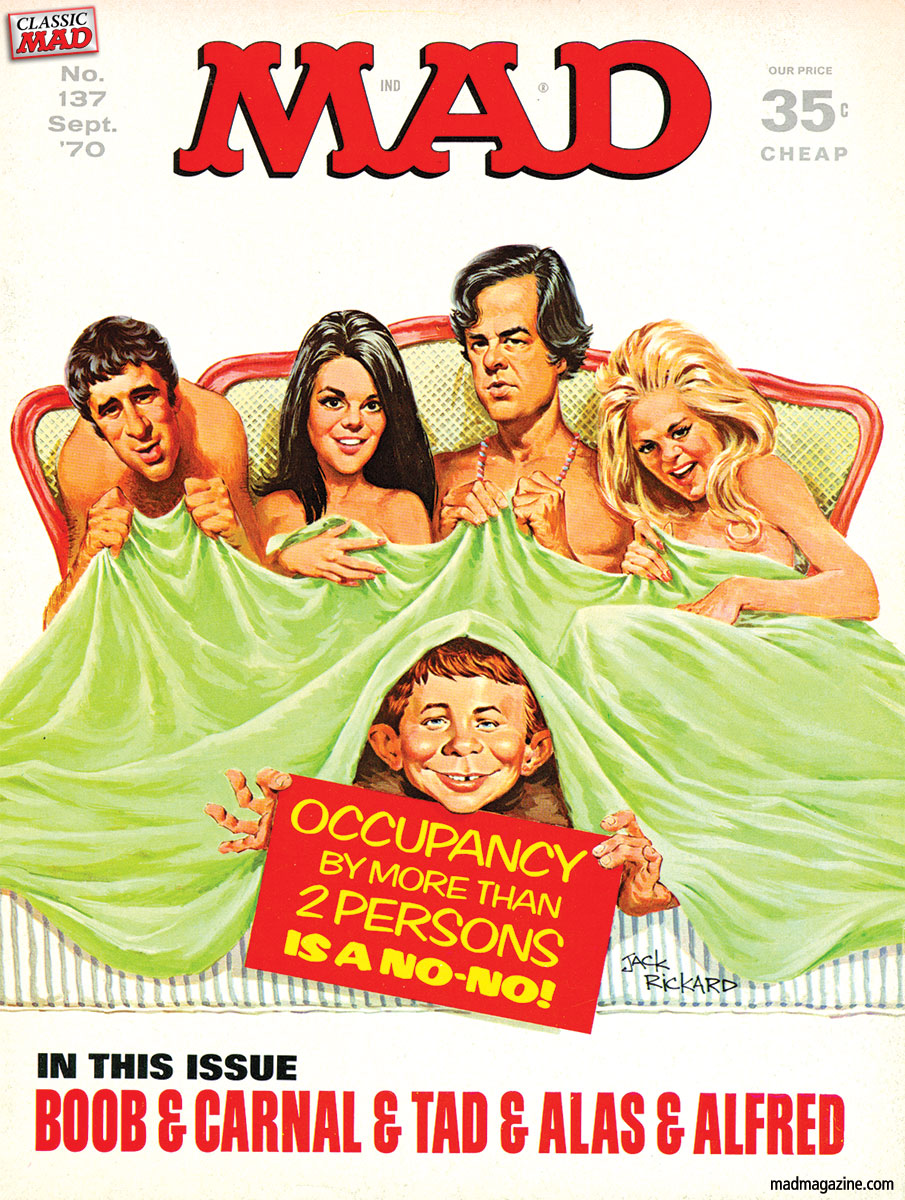 Classic MAD, R.I.P., Movies, Paul Mazursky, Movie Directors, Bob & Carol & Ted & Alice, MAD Covers, Jack Rickard