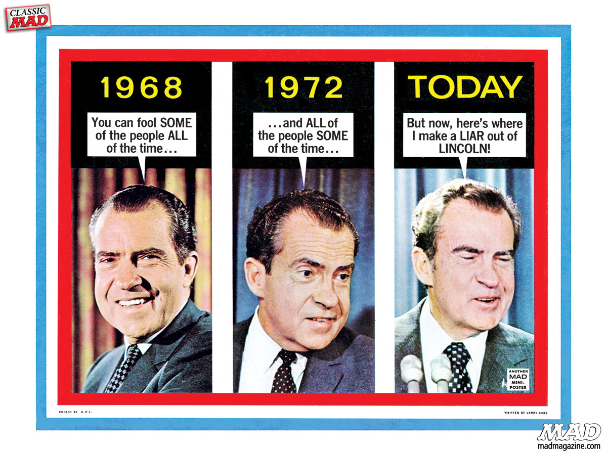 Classic MAD, Richard Nixon, Resignation, MAD #161, Larry Gore