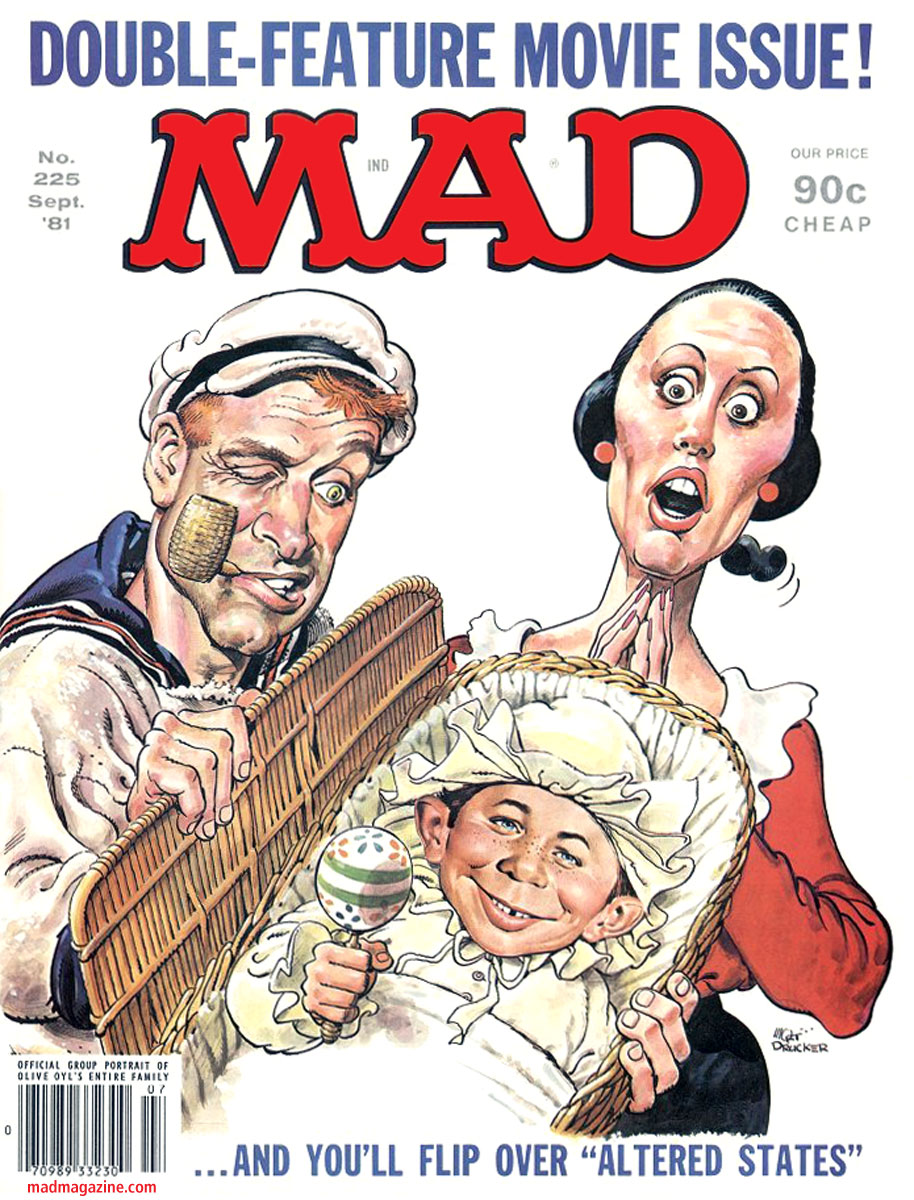 mad magazine the idiotical classic mad mad covers mort drucker popeye robin williams olive oyl shelley duvall mad  225
