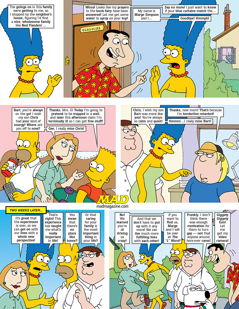 The Original Simpsons/Family Guy Crossover! | Mad Magazine