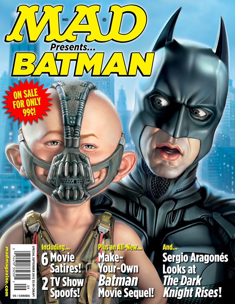 "mad magazine the idiotical Get ""MAD Presents...Batman"" for Only 99¢ on Your iPad! One Week Only! MAD Merchandise, MAD iPad App, iPad, MAD Presents Batman, Batman, Superheroes, Bane, Supervillains, MAD Issues on Sale"