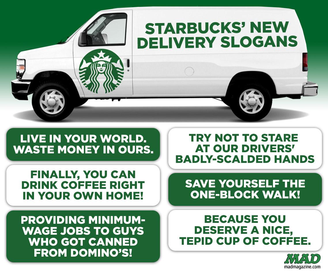 Starbucks delivering customer service