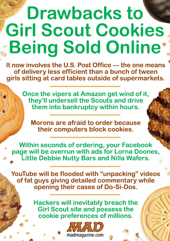 Idiotical Originals, Society & Culture, Girl Scouts, Cookies, Baked Goods, Thin Mints, Brownie, Online, Internet, Salami Blisters