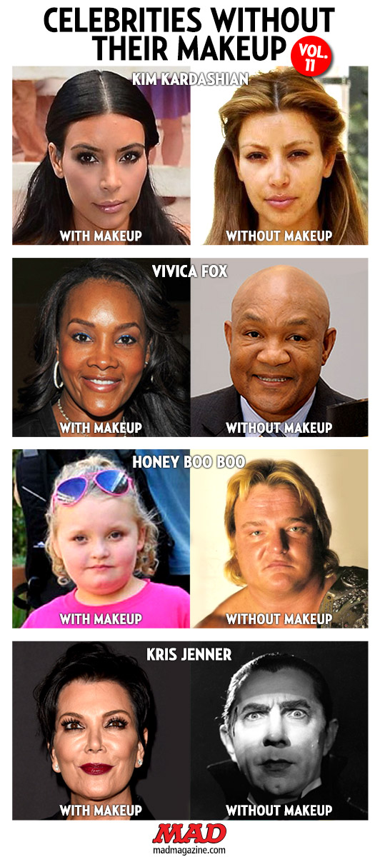 Celebrities Without Their Makeup, Vol. 11 | Mad Magazine