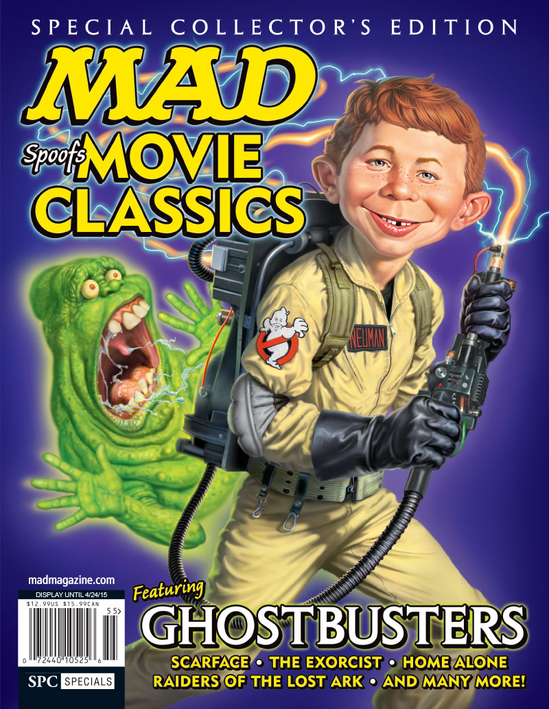 MAD Books, MAD Spoofs Movie Classics, Satires, Parodies, Film, Usual Gang of Idiots, Ghostbusters, Slimer, Marionette Marina Recipes