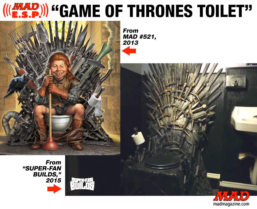 Mad Esp Game Of Thrones Toilet Mad Magazine