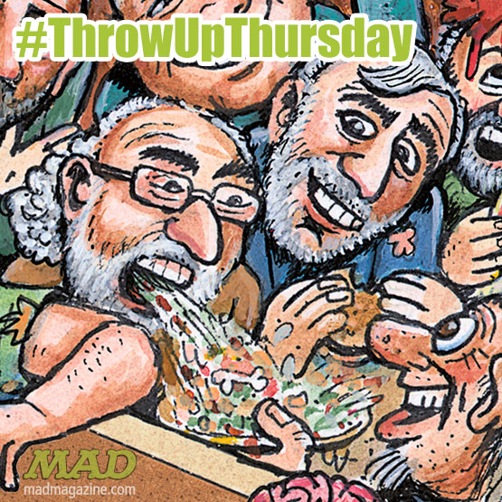 Throw Up Thursday, MAD #532, Tom Bunk, 2 Broke Girls