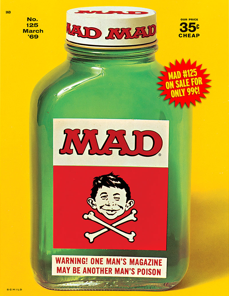 MAD Merchandise, MAD iPad App, iPad, MAD #125, Irving Schild