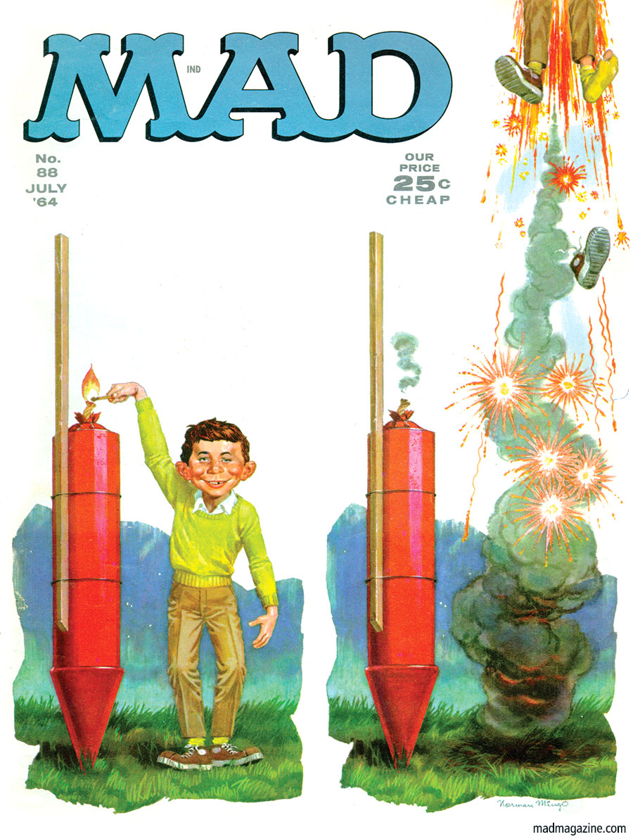 MAD MAGAZINE 88 COVER FOURTH OF JULY 4TH ALFRED E NEUMAN NORMAN MINGO sergio aragones