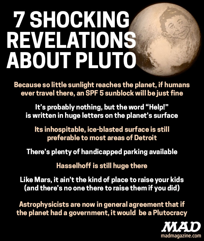 MAD Magazine 7 Shocking Revelations About Pluto Idiotical Originals, Space, Pluto, SmartCouch Innovation