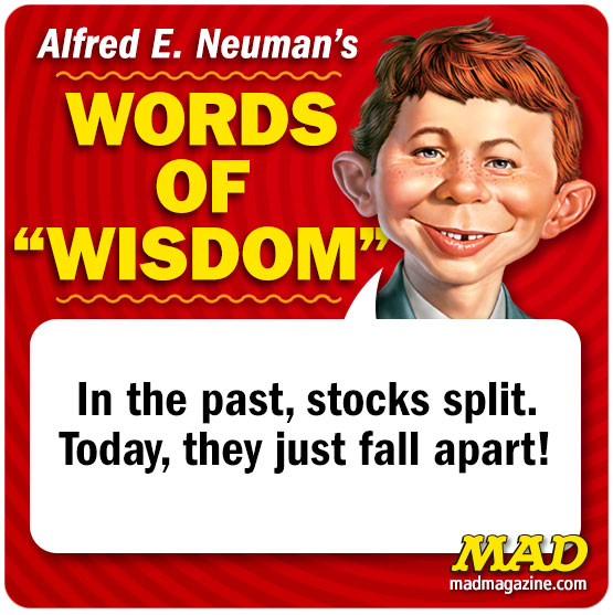 Mad Magazine, Alfred E. Nueman's Words of Wisdom, Alfred E. Nueman