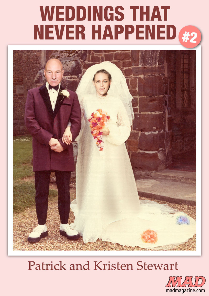 mad magazine weddings that never happened patrick stewart kristen stewart