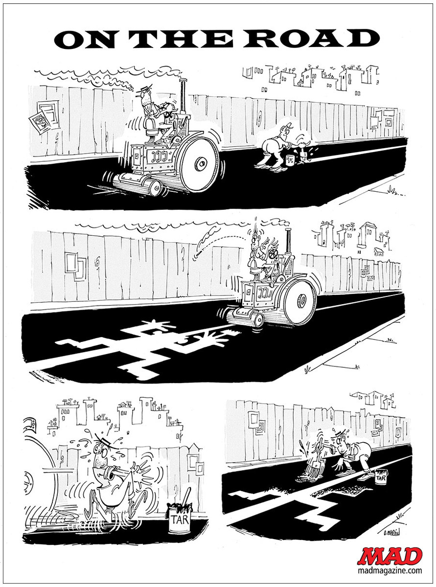 MAD Magazine, Don Martin, On the Road, Fonebone Friday, Mad #116
