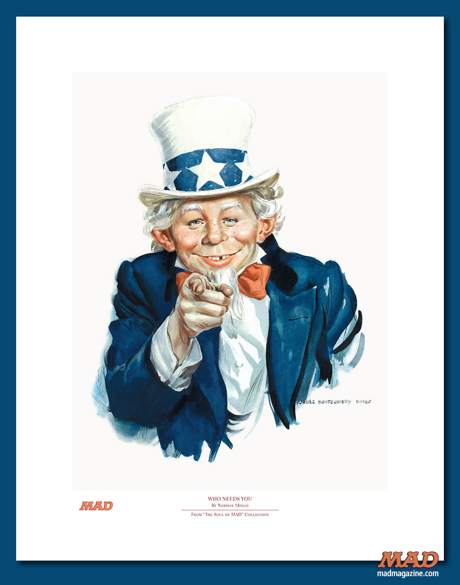 MAD Magazine Alfred as Uncle Sam Print