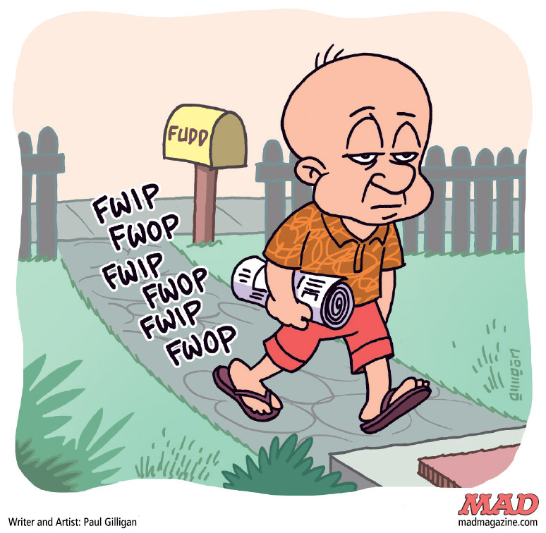 One Morning At Elmer Fudds House A Cartoon By Paul Gilligan Mad