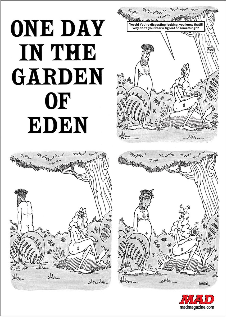 MAD Magazine, Fonebone Friday, Don Martin, One Day in the Garden of Eden, Issue #138