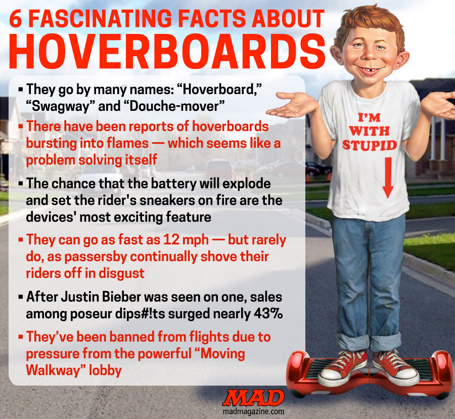 MAD Magazine 6 Fascinating Facts About Hoverboards  Idiotical Originals, Hoverboard