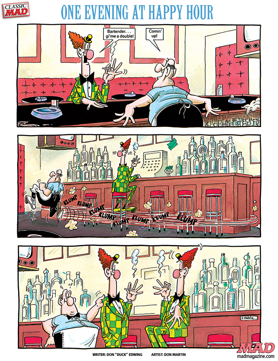 Classic MAD, Don Martin, Fonebone Friday, MAD #206, Duck Edwing