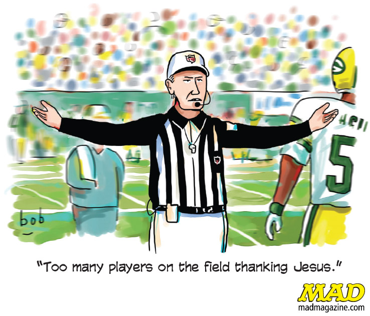 MAD Magazine, Idiotical Originals, Single Panel Cartoon, Bob Eckstein, Referee, NFL, Football