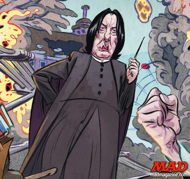 MAD Magazine, R.I.P., Alan Rickman, Harry Potter, Hermann Mejia