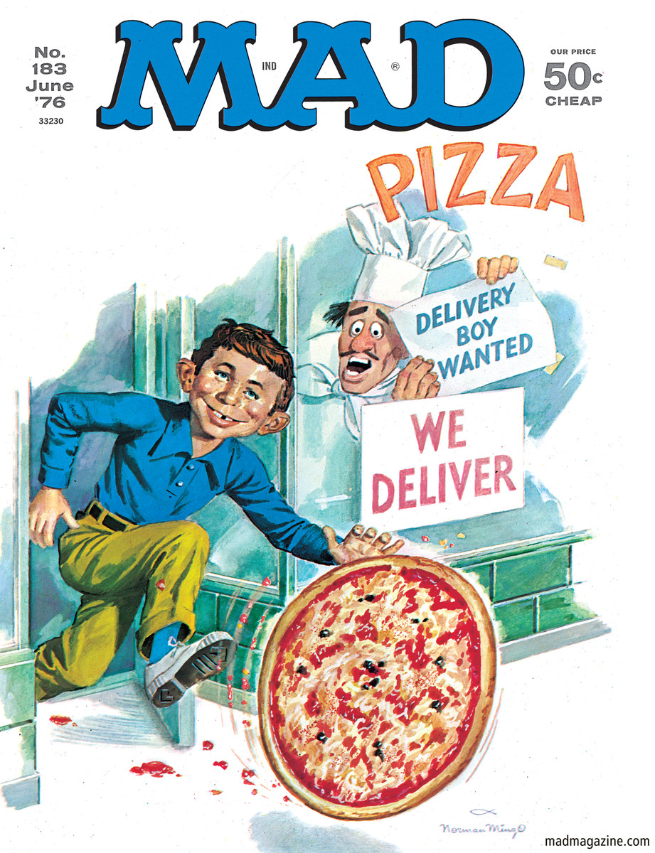 MAD Magazine Classic MAD, National Pizza Day, Norman Mingo