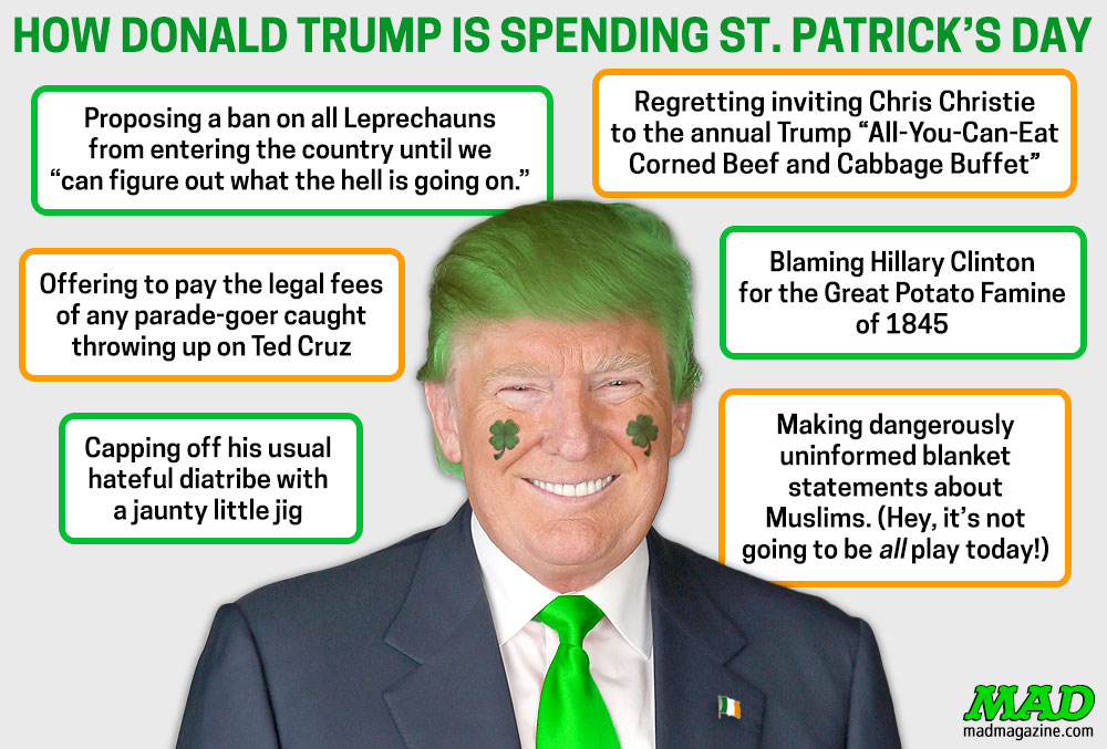 MAD Magazine, Idiotical Originals, Donald Trump, St. Patrick's Day