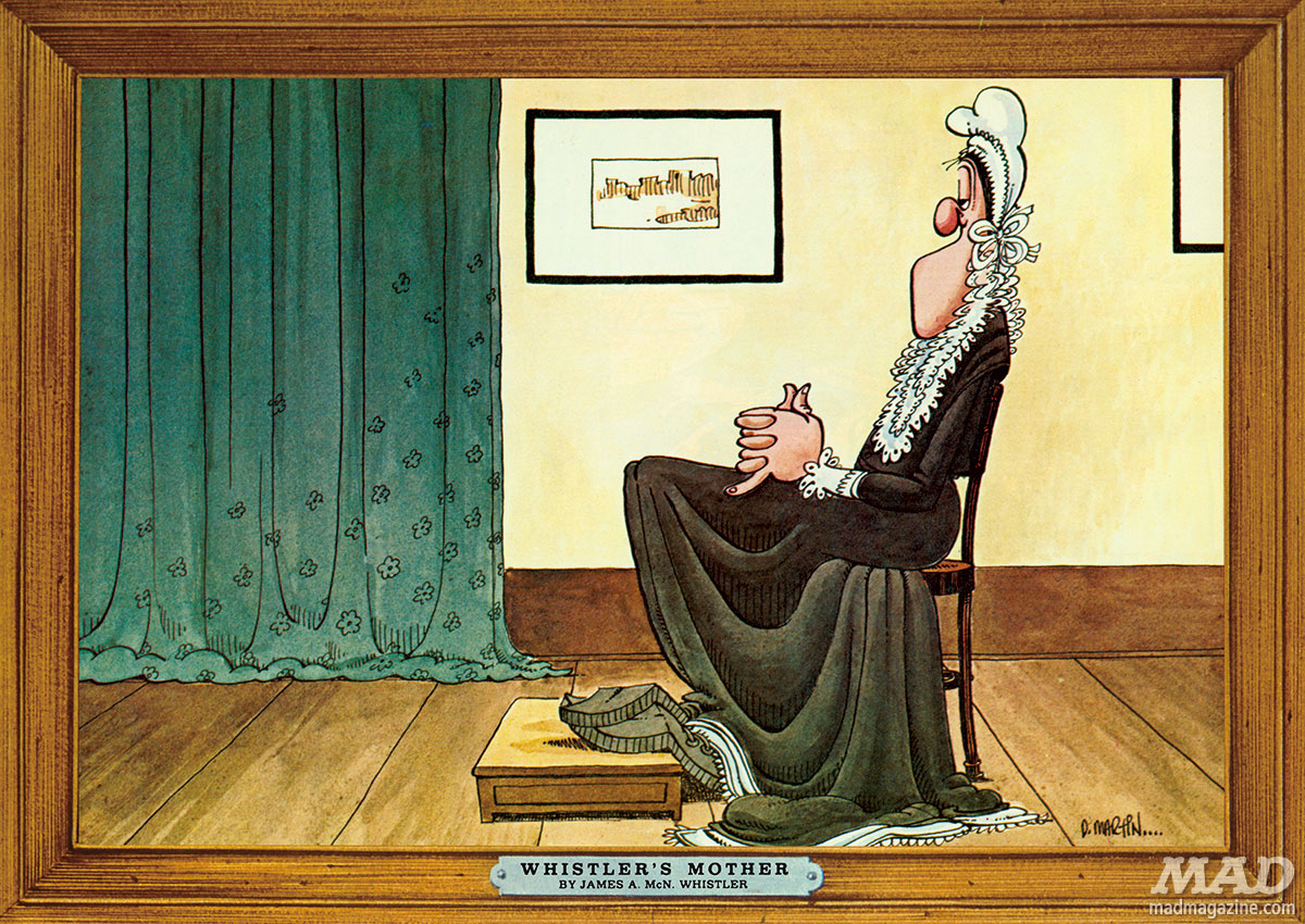 Classic MAD, Don Martin, Fonebone Friday, MAD Special #14, Paintings, Whistler's Mother, MAD Magazine