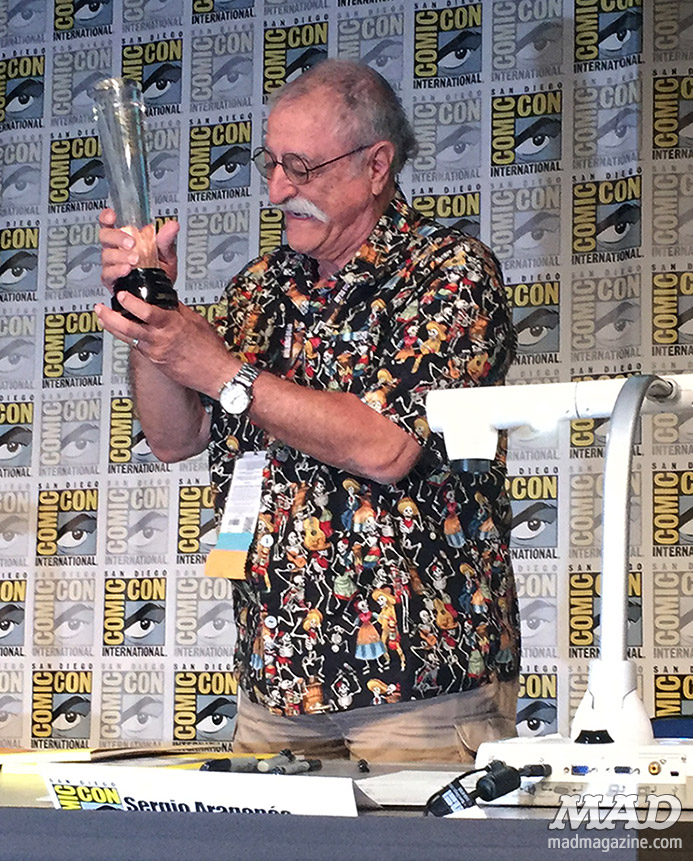 mad magazine mad about mad san diego comic-con 2016 sergio aragones icon award