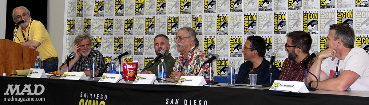 mad magazine panel mad about mad san diego comic con john ficarra sam viviano ryan flanders sergio aragones peter kuper kenny keil tom richmond