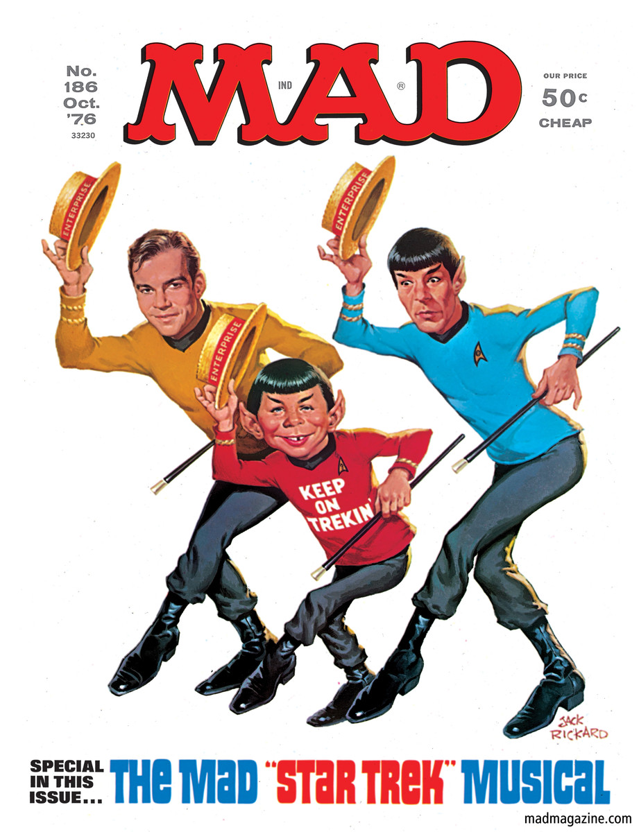 Image result for mad magazine star trek