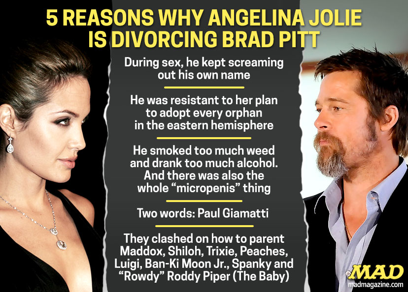 MAD Magazine, Idiotical Originals, Angelina Jolie, Brad Pitt