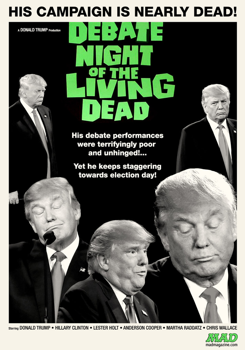 MAD Magazine, Idiotical Originals, Donald Trump, Hillary Clinton, Debate, Night of the Living Dead