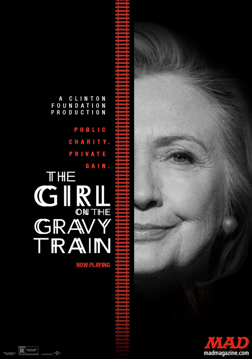 MAD Magazine, Idiotical Originals, Hillary Clinton, The Girl on the Train
